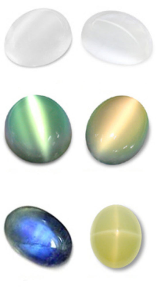Moonstone color chart