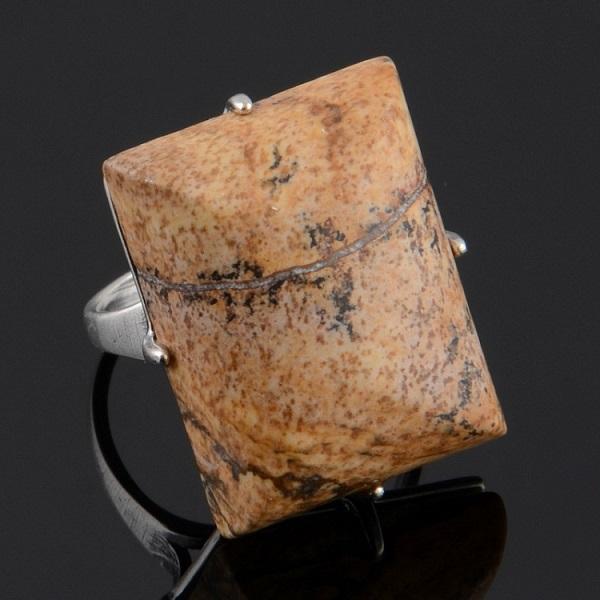 Оригинальный перстень с яшмой