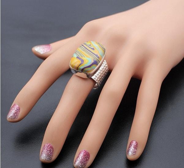 Перстень с яшмой мозаичной