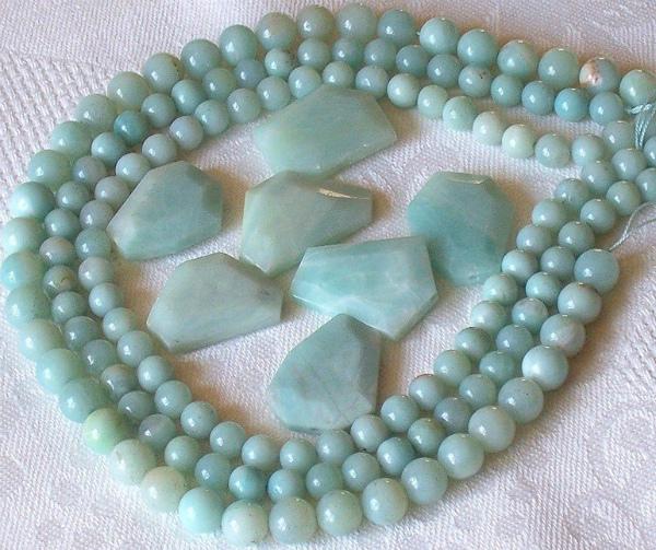 Амазонит ожерелье