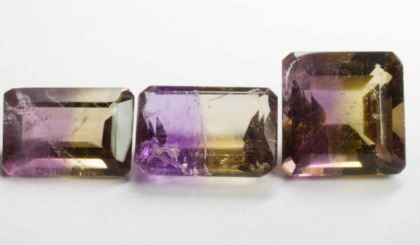 Обработанные кристаллы аметрина