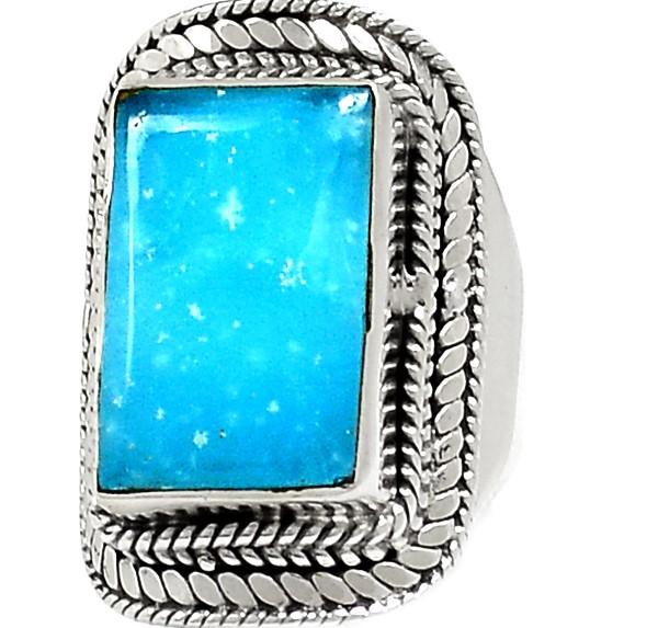 Кольцо с камнем смитсонит