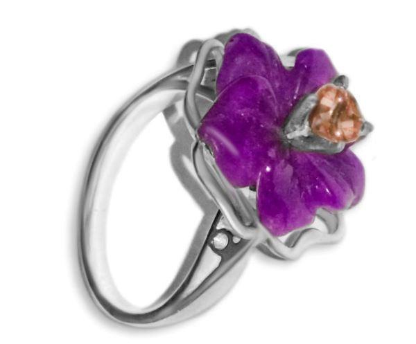 Кольцо с сагиинитом