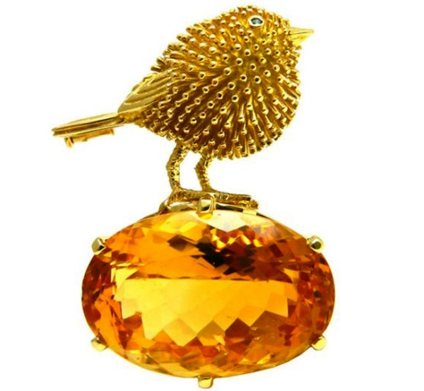 Сувенир Цыпленок с цитрином