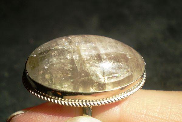 Кольцо с турмалином бесцветным