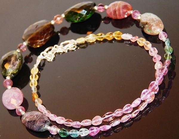 Ожерелье с турмалином эльбаит