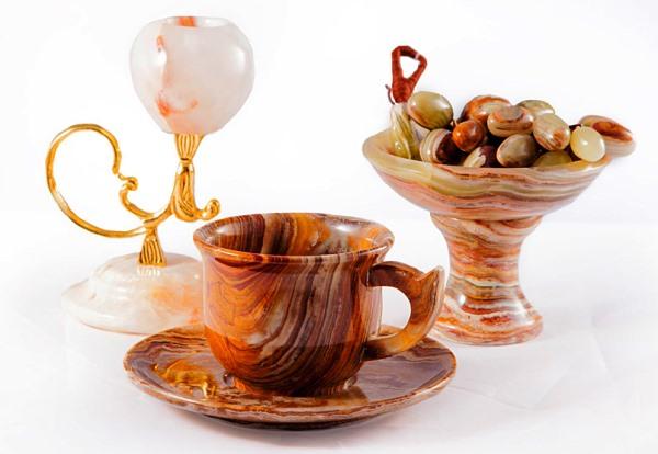 Посуда из оникса - сувениры