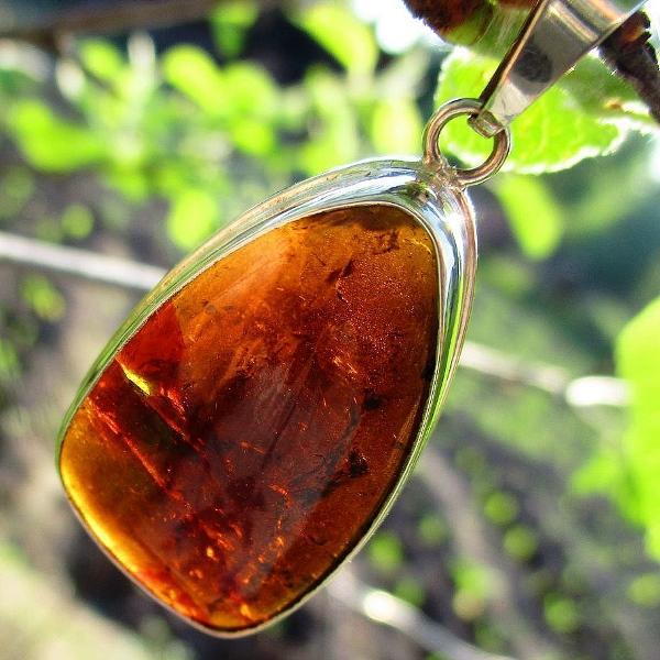 "Кулон ""Пчелиный мед"" дравит (коричневый турмалин)"
