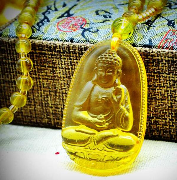 Ожерелье из цитрина - нефритовый Будда